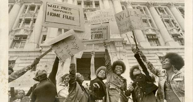 Home Rule Demonstration at the District Building, 1973