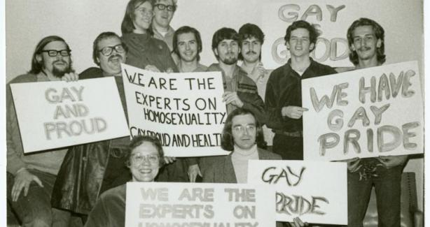 Members of Gay Activist Alliance circa 1970