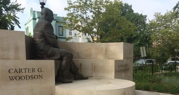 Photo of statue of Carter G. Woodson