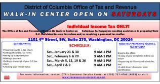 OTR Walk-in Center Tax Help