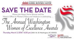 Washington Women of Excellence Awards 2016