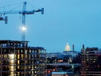 Capital Landmarks View Plane Study - DC skyline showing construction cranes