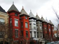 Photo of historic row houses in DC