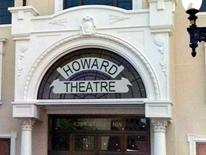 Photo of Howard Theatre Restoration - front facade of the historic building and decoractive arched entrance